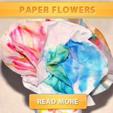 Paper flowers front
