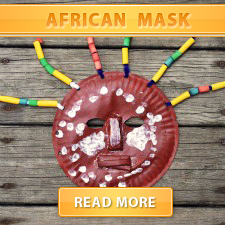 Macaroni Kid  African Mask