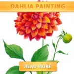 Dahlia painting cover