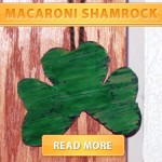 Macaroni kid shamrock craft