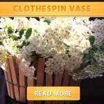 Clothespin Vase
