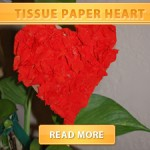 Tissue paper heart cover