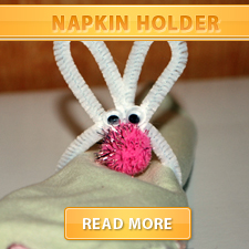 bunny napkin holder cover