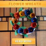 flower wreath cover