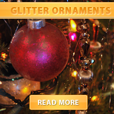Glitter ornament cover