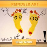 Reindeer art cover