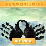 Handprint Swans