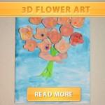 3D Flower Art