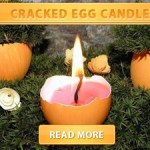 Cracked Egg candle cover