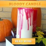 Bloody candle cover